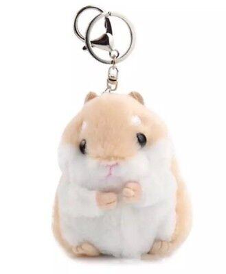 Hamster Plush Stuffed Animal Toy Keychain Brown 3.5