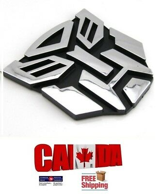 1x 3D Logo XL Transformers Autobots Emblem Badge Decal Graphics Car Bike Truck