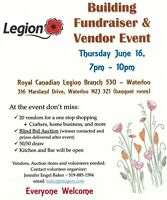 Waterloo Legion Branch 530 Building Fundraiser and Vendor Event
