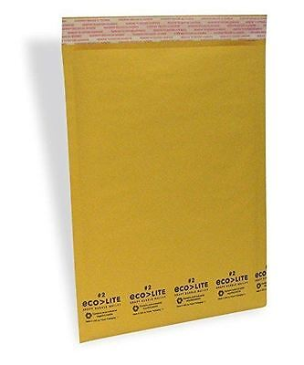 50 5 10.5x16 Ecolite Kraft Bubble Mailers Padded Envelopes Bags Self Seal