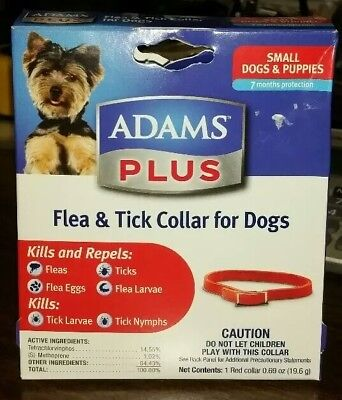 Adams Plus Flea and Tick Collar for Small Dogs Puppies Kills and Repels 7 Months