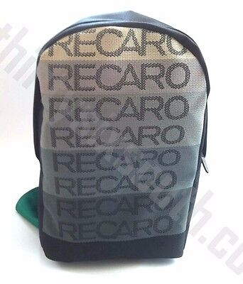 JDM BRIDE Recaro Racing Backpack Black w/ Green Racing Harness Straps for sale  Shipping to Canada