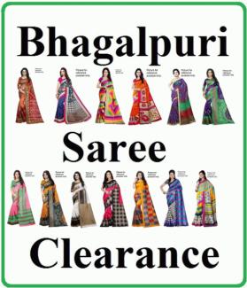 Indian Bhagalpuri Silk Saree Clearance