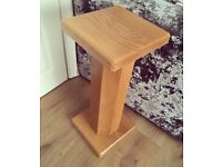 Solid oak plant/lamp stand