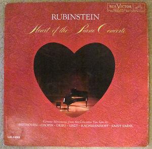 Artur Rubinstein • Heart Of The Piano Concerto (mono vinyl LP)