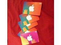 iTunes Gift cards x 5 (30%OFF) SOLD SEPARATELY TOO!