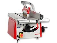 Axminster TS200 table saw with extension wing and stand