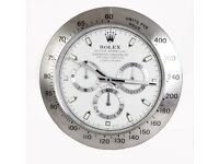 Rolex wall clock, large size metal clock, Smooth silent sweeping hands