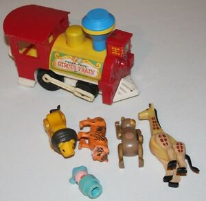 1979 Fisher Price Circus Train with 4 animals and conductor