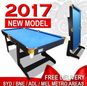 New! 6FT Blue Foldable / Fold Away Pool Table Free Delivery!