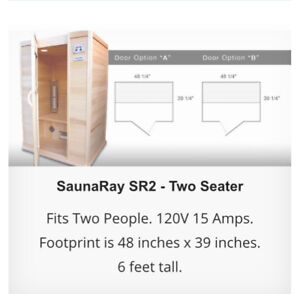Canadian sauna ray SR2- Two Seater