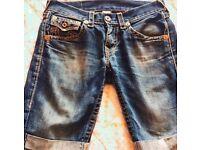 True religion shorts, denim. Real