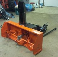"Kubota Front Snowblower, 50"" with quick hitch & hydraulic cylind"