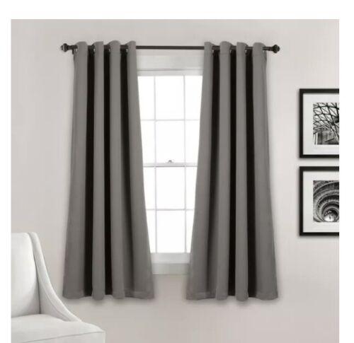 2 Set Lush Decor Insulated Blackout Window Curtain Panels Da