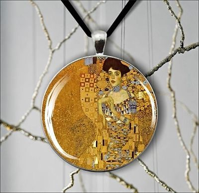 ADELE BLOCH BY GUSTAV KLIMT ROUND PENDANT NECKLACE - Klimt Round Pendant