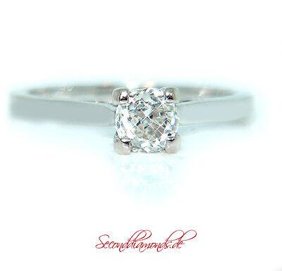Klassischer vintage Solitär Diamantring / 18 kt Weißgold Diamant ca. 0,50 ct