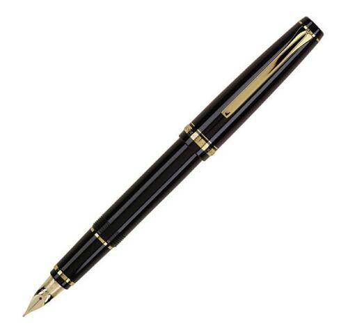 60152 Pilot Namiki Falcon Collection Fountain Pen, Black/Gold, Soft Nib, Fine