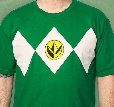 Mighty Morphin Power Rangers Green Ranger Costume T-Shirt (Mmpr Green Ranger Costume)