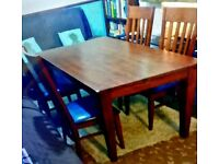 Lovely wooden Dining table and 4 chairs