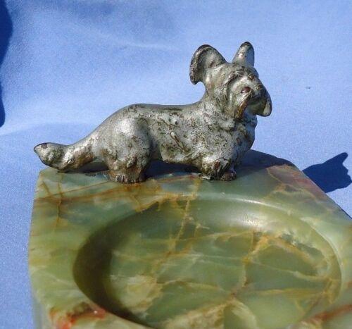 antique bronze SKYE SILKY TERRIER Vienna Austria dog