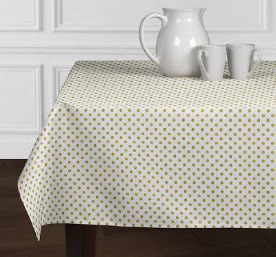 New Metallic Gold Polka Dot Dining Room Kitchen Rectangle Square Tablecloths ](Polka Dot Tablecloths)