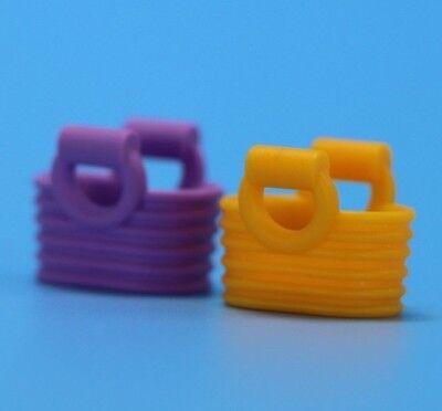Lego Minifigure Yellow & Purple Picnic Baskets Bag  Parts Bricks Accessories  - Picnic Baskets Wholesale