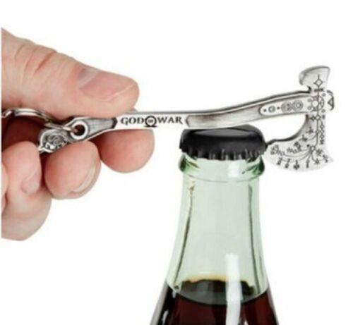 """God of War Leviathan Axe Bottle Opener Keychain 4"""" Diecast Official Sony Keyring"""