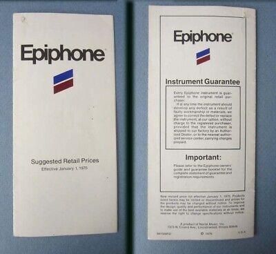 Used, original 1975 Epiphone Catalog - acoustic & electric guitars , banjos ,mandolins for sale  Shipping to Canada