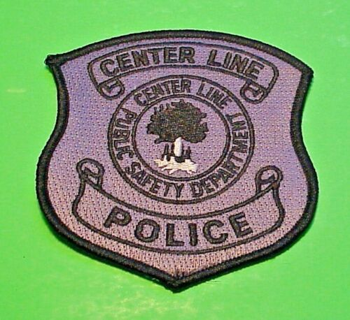 """CENTER LINE  MICHIGAN  MI  PUBLIC SAFETY ( SUBDUED )  POLICE PATCH  4"""""""