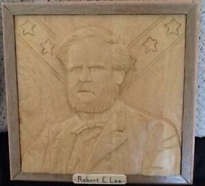 Carved portraits2/$50: ROBERT. E. LEE  or  BILLY THE KID  NewPr