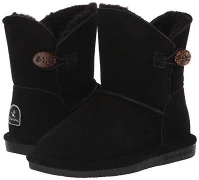 Kids Bearpaw Rosie Fashion Youth Boot 1653Y Black II Suede 100% Authentic New