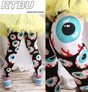 Hysteric-Harajuku-Urban-FRUiTs-Mishka-Angry-Bloody-EyeBall-Keep-Watch-Leggings