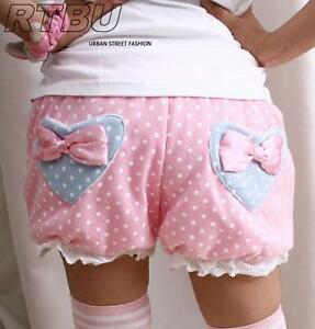 Candy-BabyDoll-Japan-Decora-Pastel-Pink-Polkadot-Pumpkin-Diaper-Bloomer-Shorts