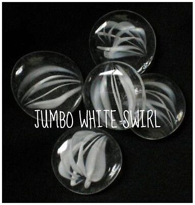 Jumbo Clear White Swirl Glass Gems Mosaic Tile Tiles