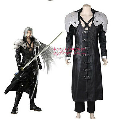 Anime Final Fantasy VII FF7 Sephiroth Cosplay Costume Fighting Black - Sephiroth Cosplay Kostüm