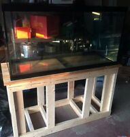 90 gallon fish tank/aquarium with stand. Also redcap goldfish