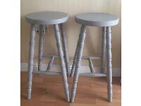 shabby chic kitchen pine stools