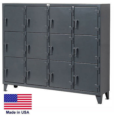 Personnel - Personal Locker Coml Industrial - 12 Lockers - 68 H X 18 D X 82 W