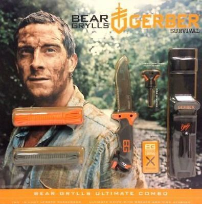 31002167 - Bear Grylls Ultimate Knife, Paracord, and Tools Combo