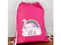 Personalised unicorn swim and kit bag