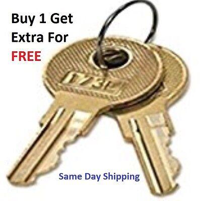 2 Steelcase File Cabinet Keys Fr Series Fr301-fr350 Keys Made By Locksmith