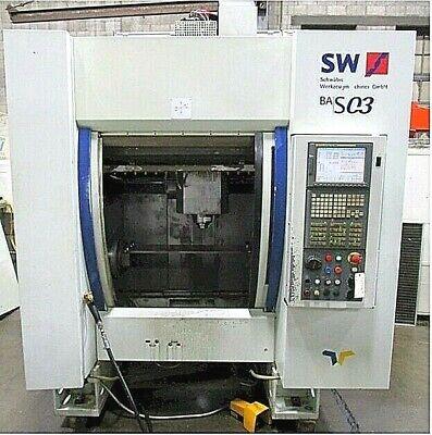 4-axis Sw Bas 03 Vertical Machining Center Fanuc Cnc Control Trunnion Table
