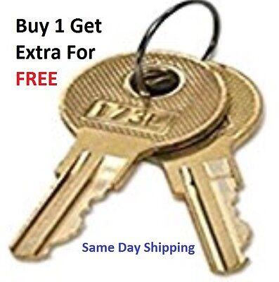 2 Haworth File Cabinet Keys Sl151 Thru Sl200 Desk Office Furniture Lock Key