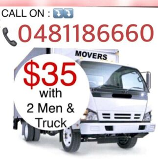 $35/ONLY with 2 MEN & TRUCK CHEAPEST MOVERS