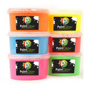 Fluorescent UV Paint Powder 2kg Tubs UV body paint / UV face Paint