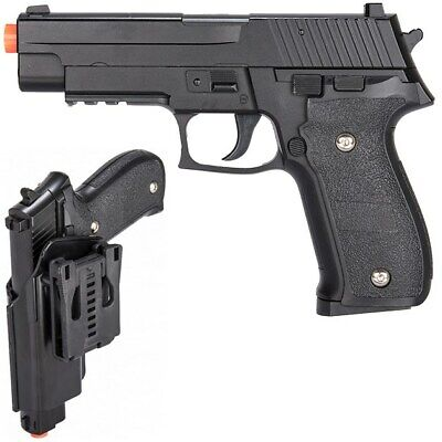 FULL SIZE METAL SPRING AIRSOFT PISTOL HAND GUN w/ HIP HOLSTER SHELL 6mm BB BBs