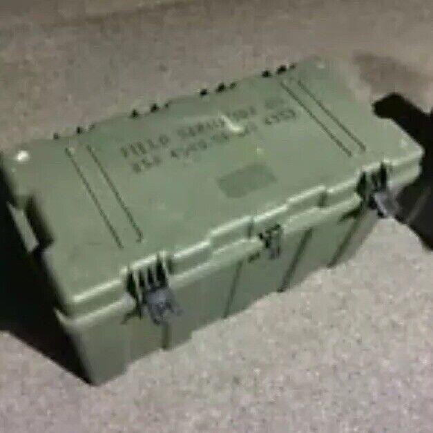 Hardigg TL500i Plastic Case Military Green Footlocker LOCAL PICKUP ONLY