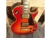 Yamaha Les Paul model, top of the range SL-700 Custom (1978, Cherry Sunburst)