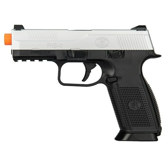 300 FPS FN HERSTAL FNS-9 LICENSED SPRING AIRSOFT PISTOL HAND GUN 6mm BB 2-TONE