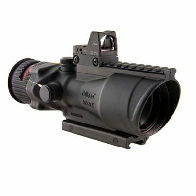 Trijicon 6x48 ACOG Riflescope, Dual Illuminated Red Chevron .308 Reticle: 100560